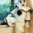 X646 Crochet PATTERN ONLY Mime Clown Doll Pattern