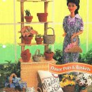 Y435 Crochet PATTERN ONLY Flower Pots & Baskets for Fashion Dolls & Barbie
