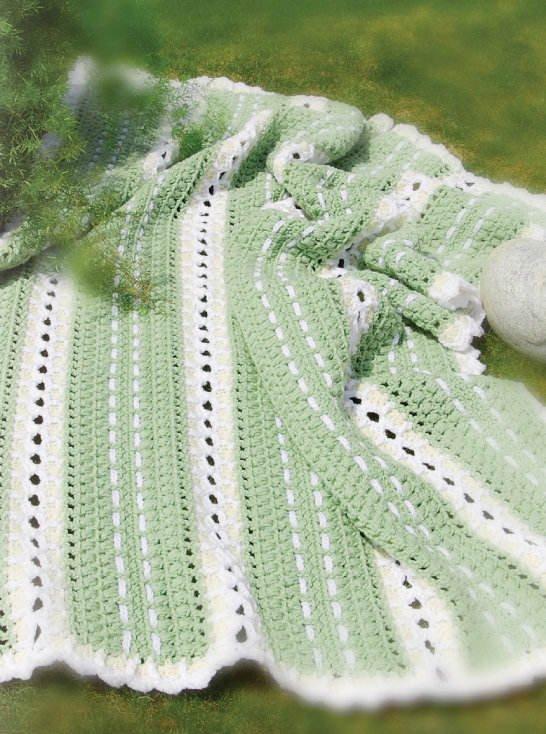W140 Crochet PATTERN ONLY Fields of Summer Afghan Pattern