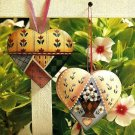 Y648 Painting PATTERN ONLY Painted Patchwork Heart Ornaments Pattern