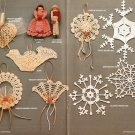 X332 Crochet PATTERN Book ONLY Ornamental Keepsakes 14 Christmas Ornaments Rare