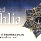 X437 Bead PATTERN ONLY Beaded Dahlia Flower Brooch Pattern