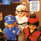 Y143 Crochet PATTERN ONLY Doll Wardrobe Policeman Karate Boy Fireman