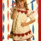 Y370 Crochet PATTERN ONLY Child Size Sweetheart Dress & Flow Pot Cover Patterns