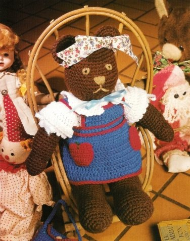 X408 Crochet PATTERN ONLY Thomasina Bear Toy Doll Pattern