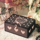 X825 Plastic Canvas PATTERN ONLY Sweetheart Treasure Box Pattern