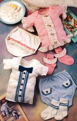 X593 Crochet PATTERN ONLY Fancy Baby Boy & Girl T-Shirt Socks and Pants Patterns