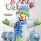 Y891 Crochet PATTERN ONLY Happy Snowman Toy Doll Christmas Pattern