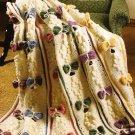 Y186 Crochet PATTERN ONLY Beautiful Bows Afghan Throw Feminine Pattern