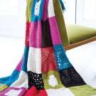 W144 Crochet PATTERN ONLY Avalanche Granny Square Throw Afghan Pattern