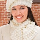 X474 Crochet PATTERN ONLY Snowball Hat & Scarf Set plus Cowl Pattern