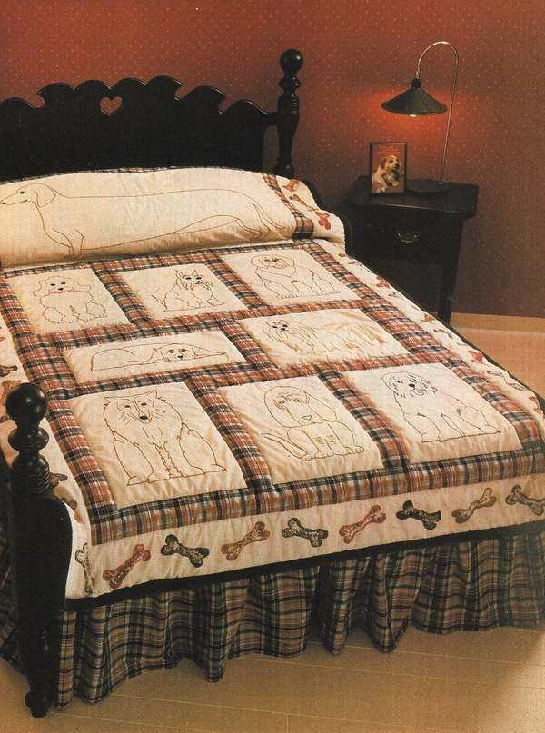 X153 Quilt PATTERN ONLY 9 Dog Quilt and Pillow Pattern