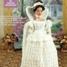 Y407 Crochet PATTERN ONLY Medieval Times Bride Fashion Doll Barbie Gown Cape Cro