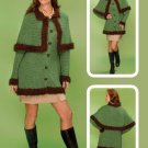 W137 Crochet PATTERN ONLY Pelisse Cloaked Cardigan Sweater Pattern