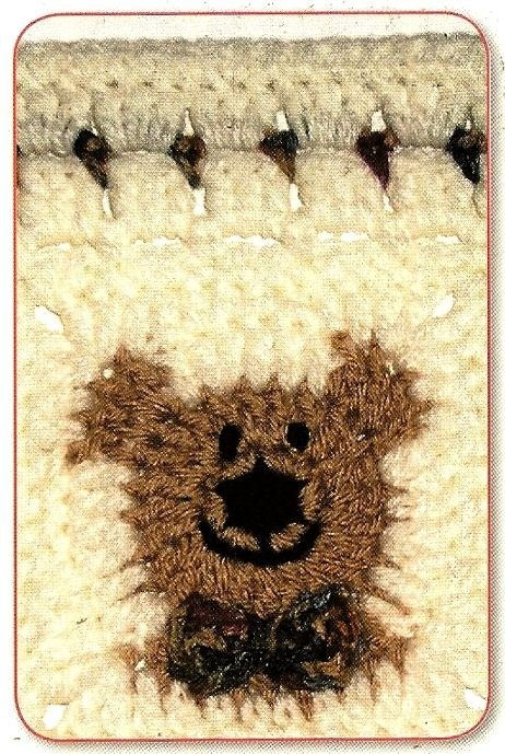 W090 Crochet PATTERN ONLY Friendly Bear Granny Square Pattern Bow Tie