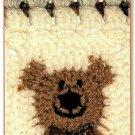 W090 Crochet PATTERN ONLY Friendly Bear Granny Square Pattern Bow Tie