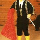 X171 Crochet PATTERN ONLY Male Fashion Doll Matador Outfit Suit Pattern Ken