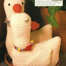 X722 Crochet PATTERN ONLY Boy & Girl Goose Toy Pattern