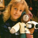 Y421 Crochet PATTERN ONLY Patches the Bear Stuffed Toy Doll Pattern