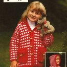 X472 Crochet PATTERN ONLY Child Size Peppermint Jacket with Hood Pattern