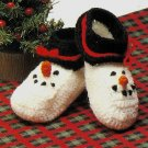 X253 Crochet PATTERN ONLY Snowman Baby Booties Pattern