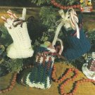 Y274 Crochet PATTERN ONLY Miniature Christmas Stocking Ornament Pattern