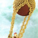 X966 Crochet PATTERN ONLY Pineapple Balloon Christmas Ornament Cover