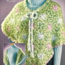 Y106 Crochet PATTERN ONLY Christmas Cloud Poncho and Shawl Wrap