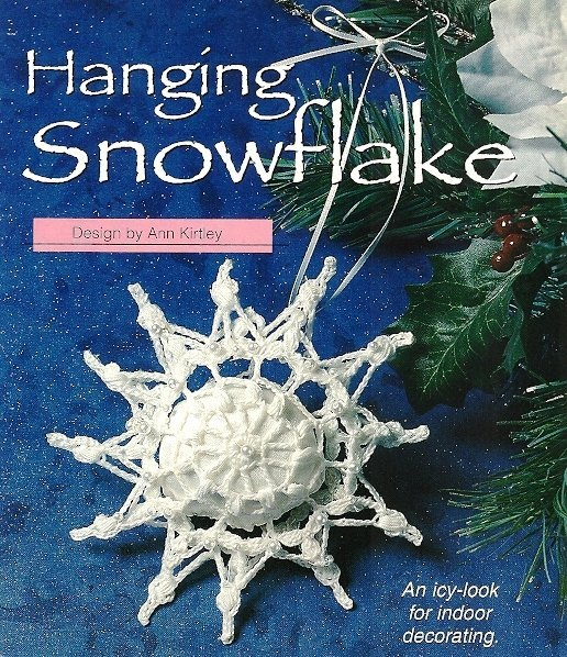 X710 Crochet PATTERN ONLY Snowflake Sachet Christmas Ornament