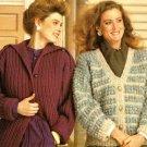X842 Knit Crochet PATTERN ONLY Drop Shoulder Epaulets Jacket & Cardigan Sweaters