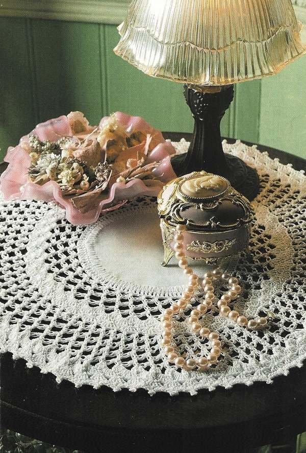 X743 Crochet PATTERN ONLY Love Knot Doily Pattern