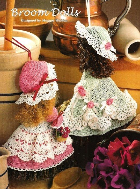 X895 Crochet PATTERN ONLY 2 Broom Dolls Pattern