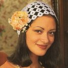 Y349 Crochet PATTERN ONLY Sweet Yo-Yo Thread Crochet Cloche Hat Pattern