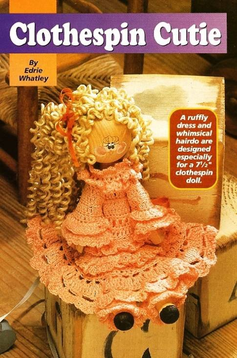 Y180 Crochet PATTERN ONLY Clothespin Cutie Doll Toy