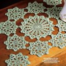 Y176 Crochet PATTERN ONLY Shamrock Doily & Coaster St. Patrick's Day Irish