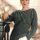 X630 Knit PATTERN ONLY 6 Women's Sweater Cardigan Tunic Holiday