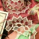 X117 Crochet PATTERN ONLY Lattice Hat and Fan Ornament Pattern