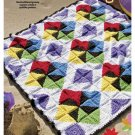 Y870 Crochet PATTERN ONLY Windmills Quilt Like Afghan Throw Blanket Pattern