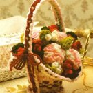 Y419 Crochet PATTERN ONLY Cute Flower Basket Pattern
