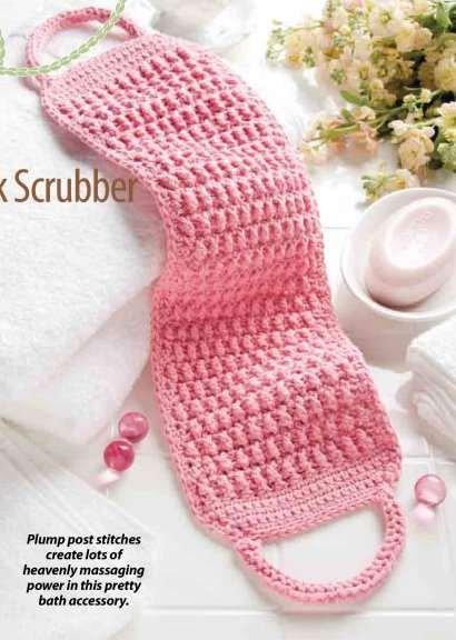 Y818 Crochet PATTERN ONLY Massaging Back Scrubber Pattern