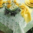 X189 Crochet PATTERN ONLY Verandah Rose Tablecloth Pattern & Bonusn + Bonus