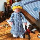 X435 Crochet PATTERN ONLY Jenny with Bear Miniature Doll Pattern