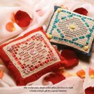 W355 Filet Crochet PATTERN ONLY Red & Green Square Sachet Pillow Patterns