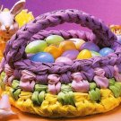 X156 Crochet PATTERN ONLY Rag Easter Basket Pattern