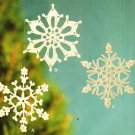 Y491 Crochet PATTERN ONLY Another 3 Snowflake Christmas Ornament
