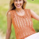Y867 Crochet PATTERN ONLY Ladies Lacy Tangerine Tank Top & Cute Top Patterns