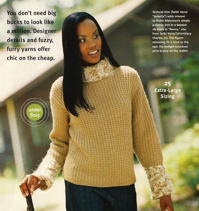 X857 Knit PATTERN ONLY 2 Cardigan & Pullover Sweaters