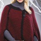 W122 Crochet PATTERN ONLY Modern Chanel Cape Pattern