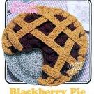 X339 Crochet PATTERN ONLY Annies Attic Sweet Dreams Blackberry Pie Black & White