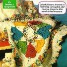Y146 Crochet PATTERN ONLY Circle of Love Heart Afghan Blanket